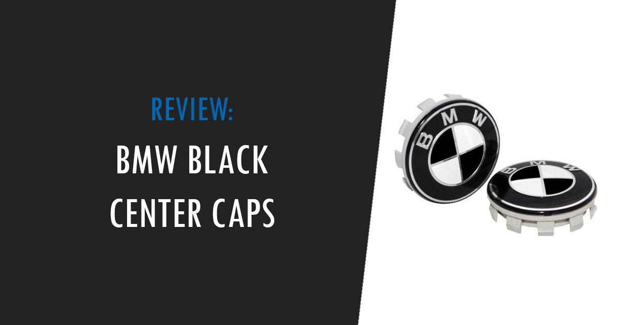 bmw black center caps