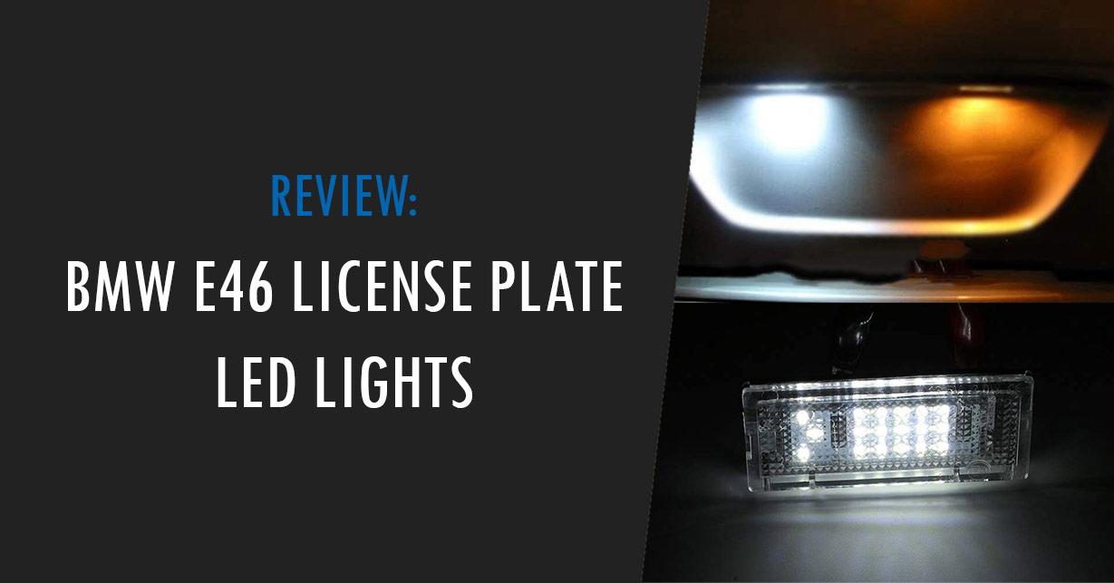 e46 license plate light